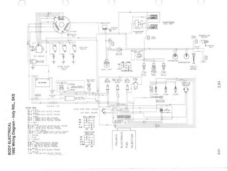 92 650 motor in 96 xlt chassis lighting issues ... wiring diagram for 1991 polaris rxl #7
