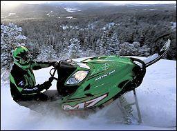arctic cat snowmobiling