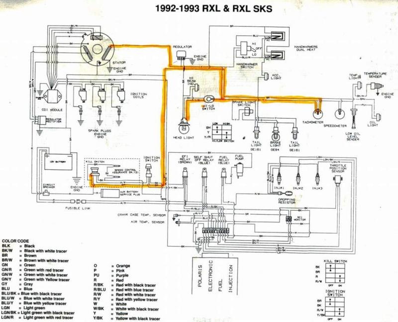 [DIAGRAM_5NL]  92 650 motor in 96 XLT chassis lighting issues | Snowmobile Forum | 1992 Polaris Wiring Diagram |  | Snowmobile Forum