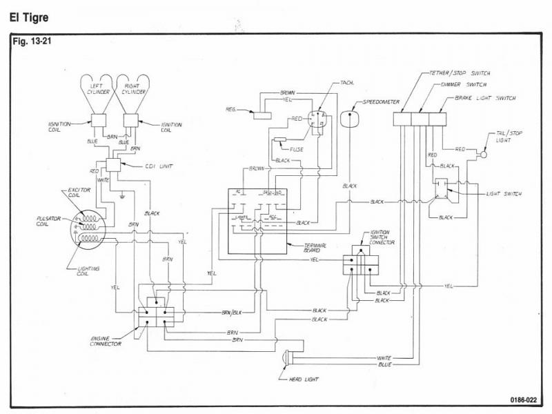 73 El Tigre Speedometer and Tachometer | Snowmobile Forum ford pats system wiring diagram Snowmobile Forum