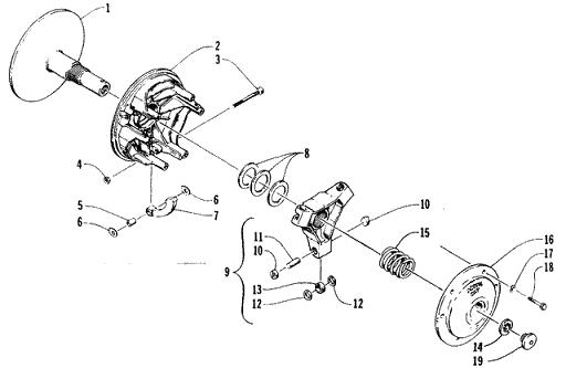 snowmobile primary clutch diagram