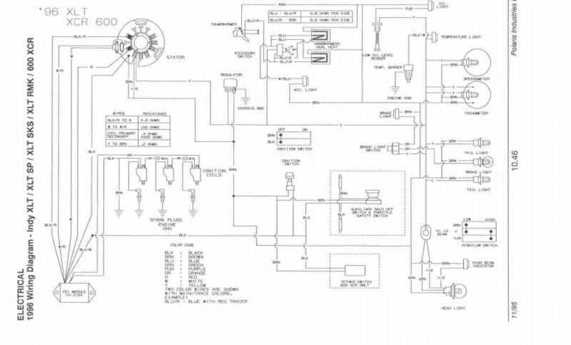 92 650 motor in 96 xlt chassis lighting issues snowmobile forum rh snowmobileforum com polaris indy 650 wiring diagram Polaris ATV Wiring Diagram