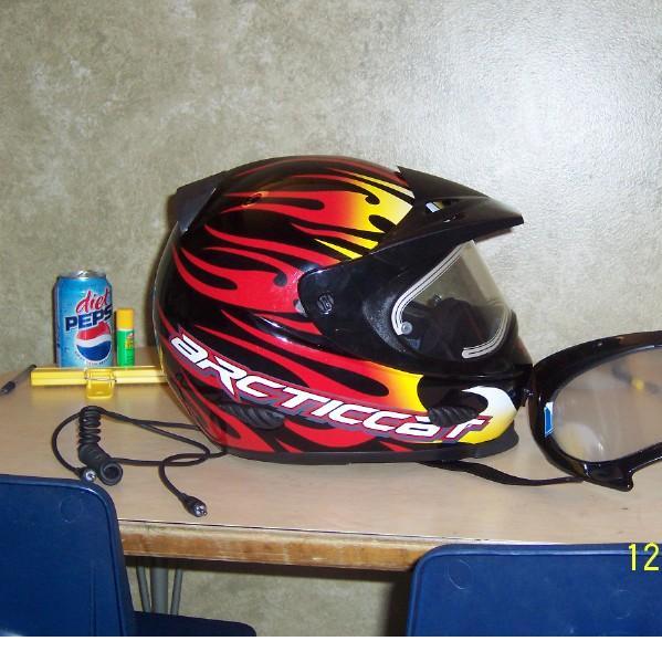 Arctic Cat Txi Red Helmet W Heated Shield Large