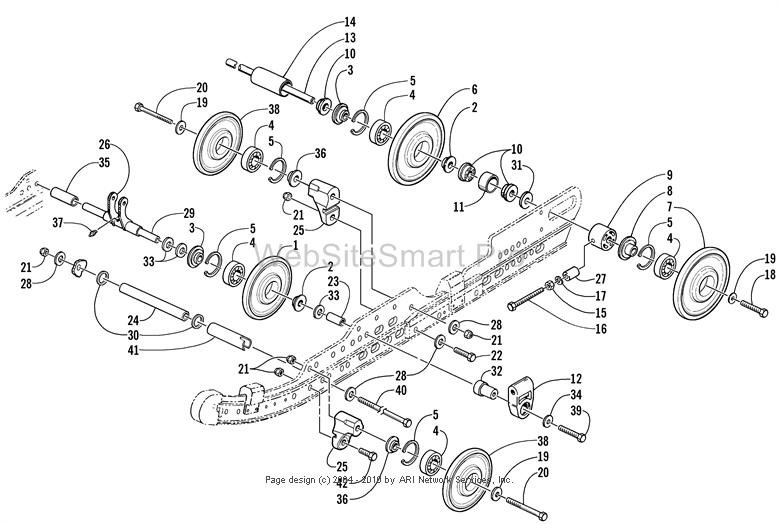 D Black Oil Coming Out Exhaust Idler Wheel Assembly on Can Am Parts Diagram