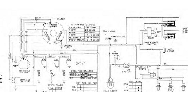 95 500 polaris indy headlight problem snowmobile forum your 1 rh snowmobileforum com Polaris Snowmobile Electrical Diagram polaris snowmobile wiring schematic