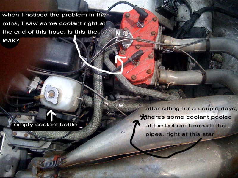 antifreeze leaking -  u0026 39 00 rmk 800