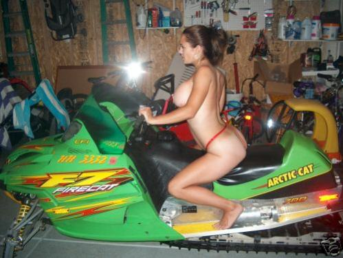 Girls nude on snowmobile 3